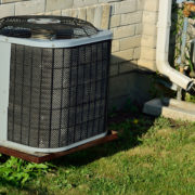Air Conditioning Unit outside of a house
