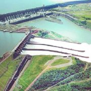 Itaipu Dam on Paraguay and Brazil border